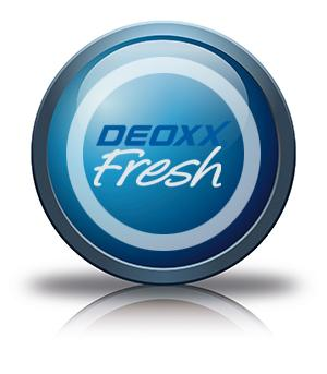 Button Blau Deoxx fresh NEU